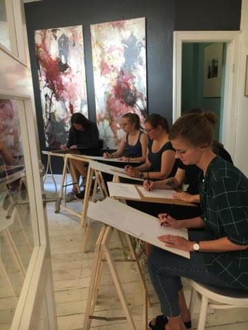 Croquis tegning hos Artlightcph, se fremtidige events