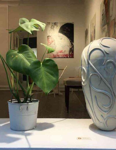 keramik kunst Unika lukket form - Tina Hvid
