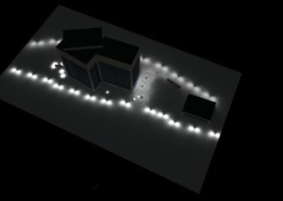 Alsik Hotel, Udendørs belysnings plan udført i samarbejde med SLA Arkitekter