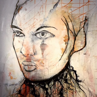 Rie Brødsgård : kunsttryk i ramme