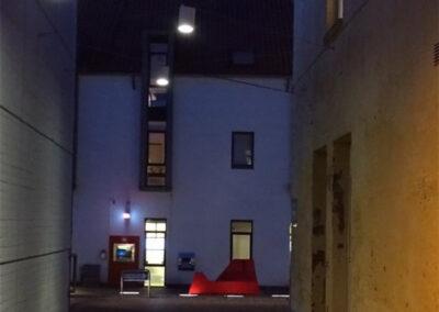Aften belysning Hammel midtby. Lysdesign Mia Høyland