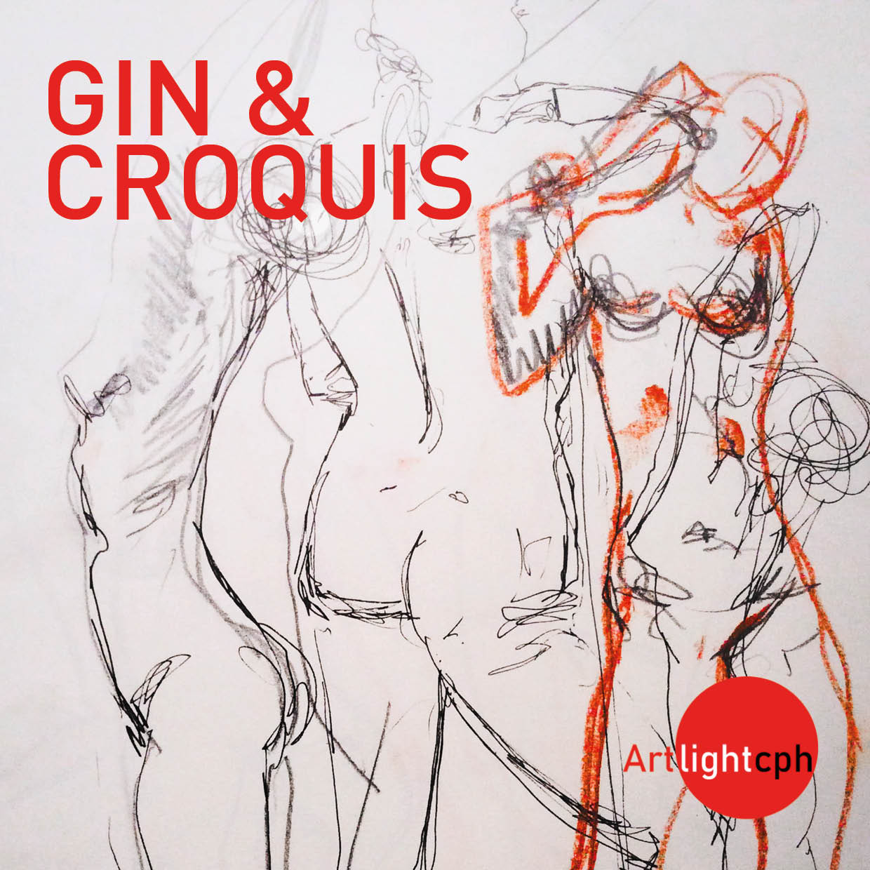 Gin & Croquis hos Artlightcph på vesterbro
